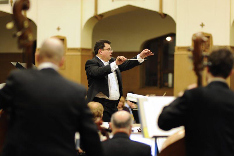 Yuri conducting the orchestra
